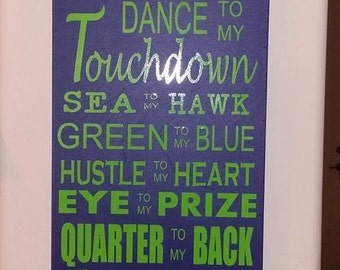 Love of my life, football sign!