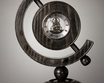 Clock, Black Ash with chrome clock.