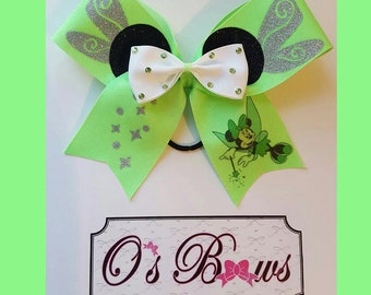 Minnie ears with Tinkerbell wings Cheer Bow