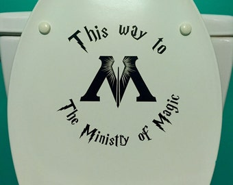 This way to the Ministry if Magic Decal