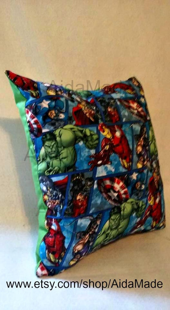 Avengers Green Pillow 16 Green Avengers Throw Pillow by AidaMade