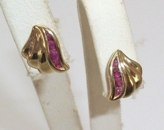 333 gold Stud Earrings with Amethyst OR101