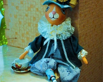 "OOAK Art Doll ""Hare in Wonderland"""