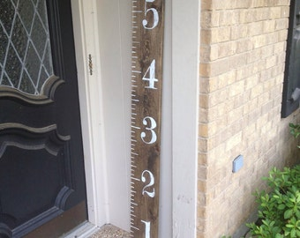Hand Painted Wood Growth Chart