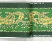 Jane Walker Celtic Hound Collar Fabric Strip C-Green/Yellow