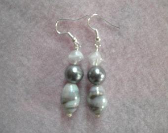 Earrings 037 Marble