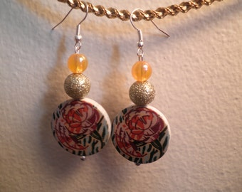 Earrings 103 Autumn Roses