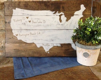Custom US State love Art- Medium