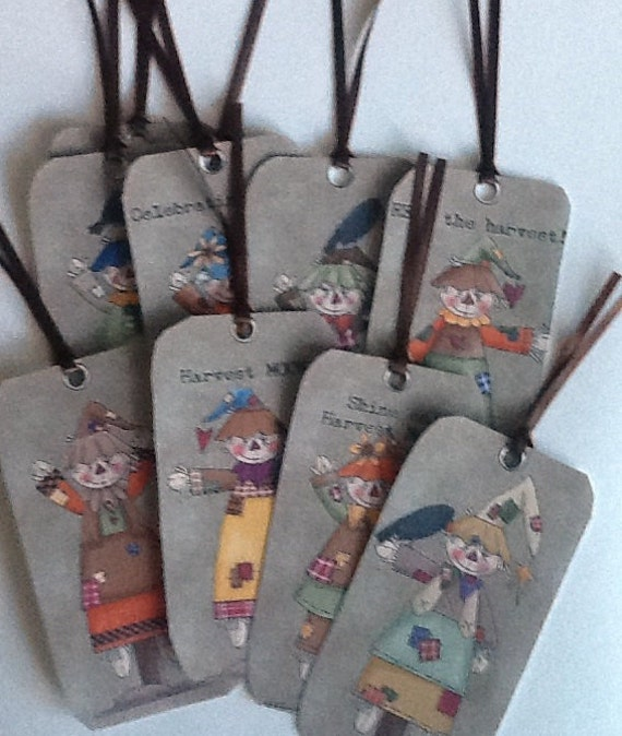 9 Scarecrow Gift/Thank You Tags