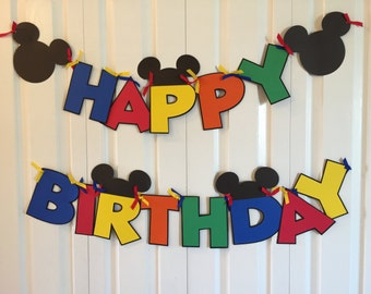 Disney Birthday Banner