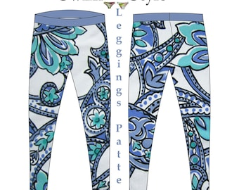 Leggings and Capri length tights pdf pattern for Women