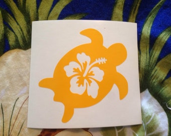 Honu w/Hibiscus decal - All colors available!