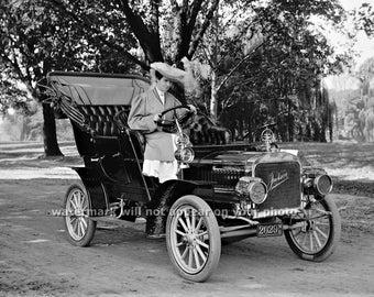 "Vintage 1905 ""JACKSON"" Automobile - Old Classic Car - Reprint Photograph - avail in sizes 8x10 - 11x14 - 16x20 - Picture Photo Print"