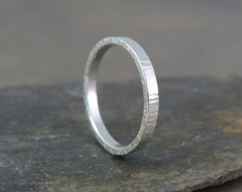 Sterling silver bark ring
