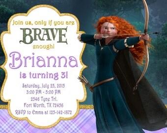 Brave Invitation, Brave Birthday, Brave Party