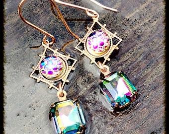 Dragon Eye Swarovski Crystal Earrings