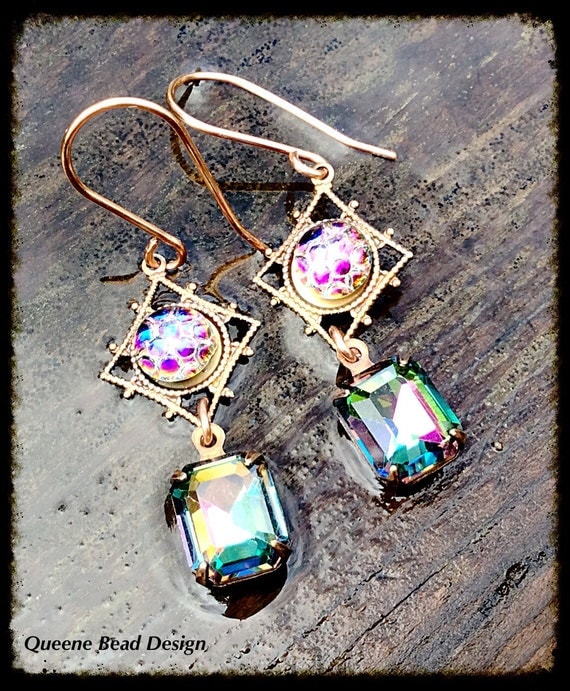 Dragon Eye Swarovski Crystal Earrings