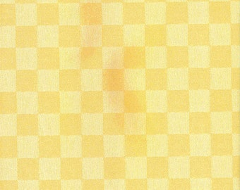 Oilcloth tablecloth fabric gingham yellow 5-6