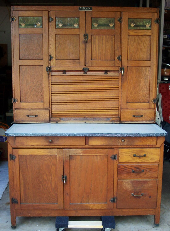 mcdougall hoosier cabinet oak flour sifter sugar jar. Black Bedroom Furniture Sets. Home Design Ideas