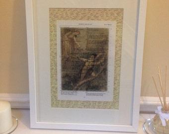 Romeo and Juliet framed quote white box frame 30cm x 40cm