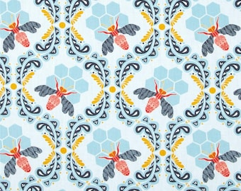 Bee Sweet Morning for Art Gallery Fabrics - Sweet as Honey Collection by Bonnie Christine - Bumble Bee Quilt fabric
