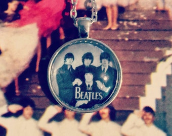The Beatles Glass Cabochon Necklace
