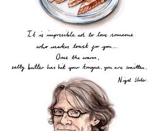 Nigel Slater quote Giclee print