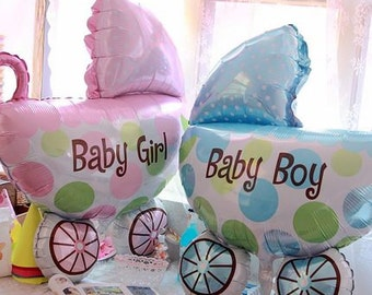 HUGE BIG Baby Stroller foil balloons Baby Shower Birthday Party Decorations