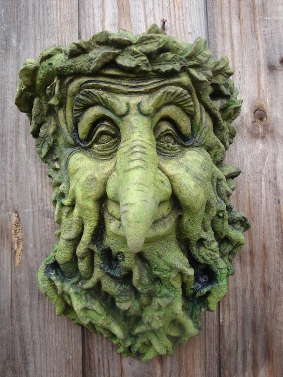 Treebeard Green Man Decorative Garden Wall Plaque