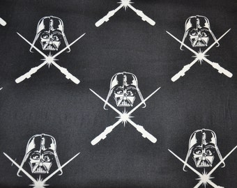 NEW!  1/2 Yard of Glow in the Dark - Star Wars/ Darth Vader/ 100% Cotton Quilt Fabric by Camelot Fabrics