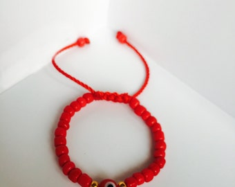 Baby/Toddler Evil Eye Protection Hand Made Bracelet.