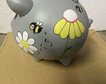 Piggy Bank: Lots of Flowers