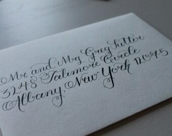 Custom Calligraphy Wedding Envelope
