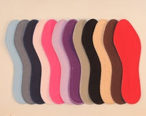 Washable Shoe Liners - Solids - 100% Absorbent Cotton Face - Stiff Poly Backing - Reinforced Stitching - Thin