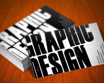 """1000 Business Card Design, Full Color Both Side Options, Any Logo or Image, Only 4c each, 2"""" x 3.5"""" Horizontal or Vertical"""