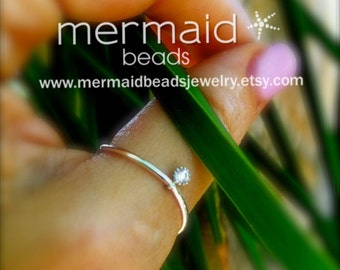 Thumb Ring Knuckle Ring Diamond Thumb Ring CZ Thumb Ring Silver Ring Stretch Ring Crystal Thumb Ring Delicate Toe Ring Solitaire CZ Ring Zen