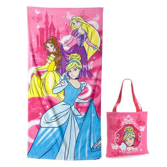 Monogrammed Princess Beach Towel: Disney Princess Beach Towel W/ Matching Tote Cinderella