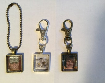 Personalized/memorialized Keychains and Rearview mirror decor!