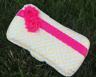 Yellow Baby Wipes Case - Baby Shower Gift - New Mom Gift - Diaper Bag Wipe Case