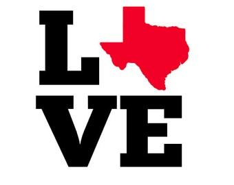 Texas LOVE Vinyl Decal