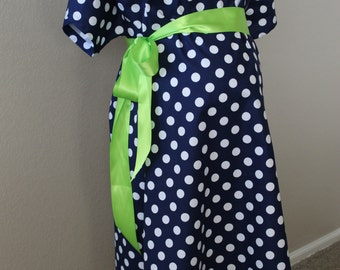 Maternity Hospital Delivery Gown, Navy Blue Delivery Gown, Maternity Hospital Gown, Labor And Delivery Gown, Delivery Gowns, Delivery Gown
