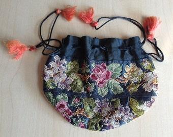 Embroidered Purse Antique Kimono Textile Museum