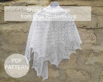 Pattern Pdf shawl  The triangular shawl