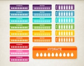 Hydrate Stickers Life Planner Stickers Reminder Stickers Erin Condren Planner Stickers Drink Sticker Water Stickers Fitness Stickers Workout