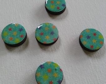 Colorful Stars Magnet Set