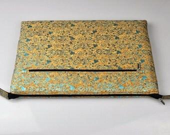 New ipad pro 10.5 sleeve, Macbook PRO Case, 13 inch felt laptop case. Cork bag, Macbook Air Case, Macbook 11 Inch Case, holiday gift, J5I306