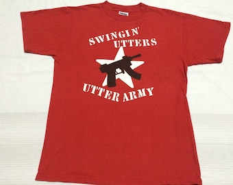 Clearance sale - vintage swigin' utters band t shirt utter army punk rock tour