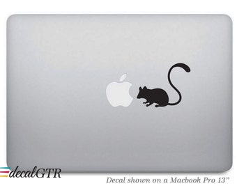 Mouse Macbook Decal - Macbook Sticker - Car Decal - Laptop Notebook Removable Vinyl Sticker Skin - G032