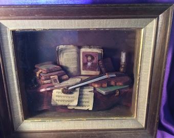 """Vintage 3D 1973 """"Treasured Memories"""" wall art"""