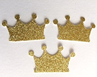 Large Gold Crown Confetti